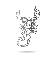Scorpion abstract isolated vector