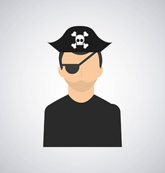Pirate emblem vector