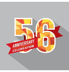 56th Years Anniversary Celebration Design vector image
