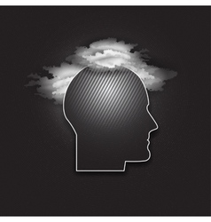 Icon of human head dark design vector