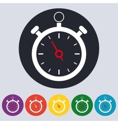 Stock linear icon stopwatch vector