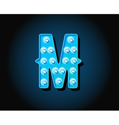 Casino or broadway signs style neon light bulb vector