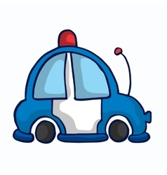 Ambulance car funny vector image