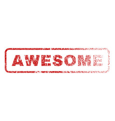 Awesome rubber stamp vector