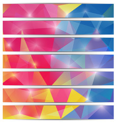 banners template with triangular mosaic background vector image vector image