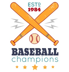 baseball retro poster new color vector image vector image