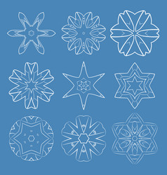 blue round patterns vector image