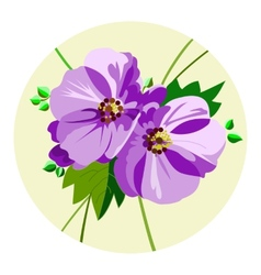 Bouquet of lilac flowers vector