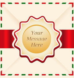 Christmas or greeting card with ribbon vector image vector image
