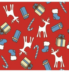 Christmas seamless texture vector image vector image