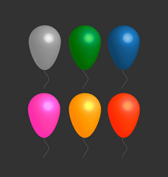 Colorful realistic helium balloons vector
