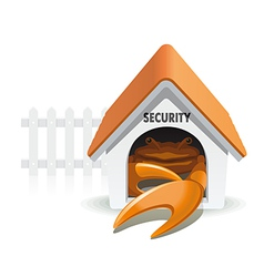Crab security vector image vector image