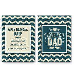 dad birthday card with words of love vector image vector image