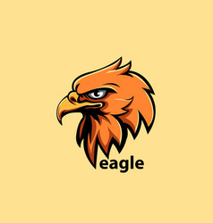 eagle head vector image vector image