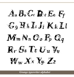 English alphabet - grunge typewritter letters vector image