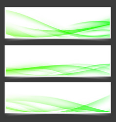 Green fresh spring web header footer templates vector