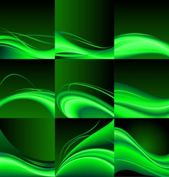 Green waves vector image vector image