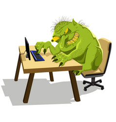 Internet troll vector