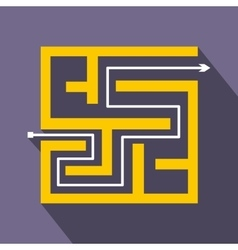 Labyrinth icon in flat style vector image