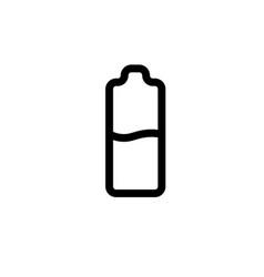medium level battery icon vector image