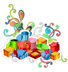 modern gift boxes vector image vector image