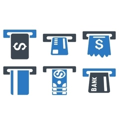 Pay box flat icons vector