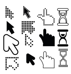 pixel cursors icons vector image vector image