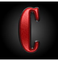 Red plastic figure c vector