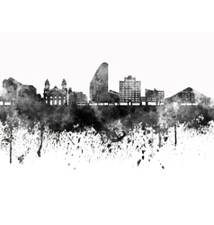 San Jose skyline in black watercolor on white vector image vector image