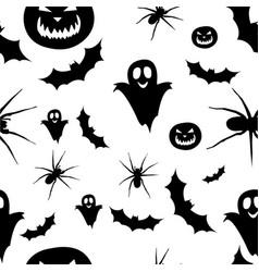 seamless pattern helloween vector image
