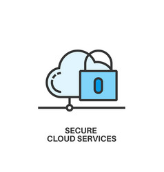 secure cloud services icon vector image vector image