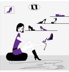 sexy girl shopping vector image