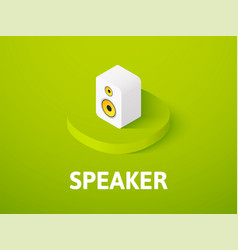 Speaker isometric icon isolated on color vector