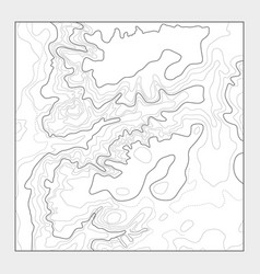 Topographic contour map background - topo vector