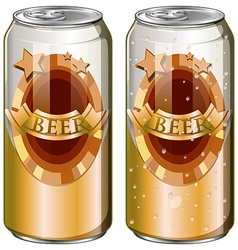 Two cans of beer vector image vector image