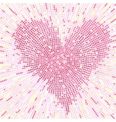 valentine mosaic background vector image vector image