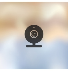 webcam icon on blurred background vector image