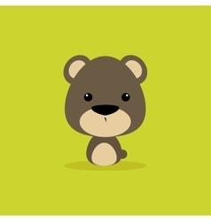 Cute cartoon wild bear vector