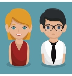 Social network people community icon vector