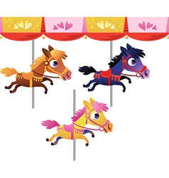 Cartoon carousel horse vector