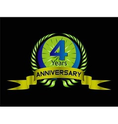 4 year birthday celebration 4th anniversaryset vector