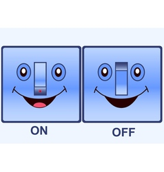 Funny electric switch vector