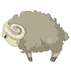 Cartoon character sheep vector
