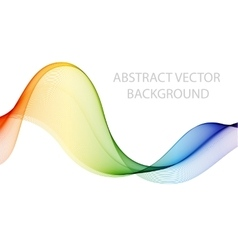 Abstract colored wave on white vector
