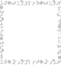 White Chrismtas Elements Border vector image