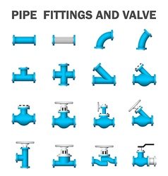 Pipe valve vector image