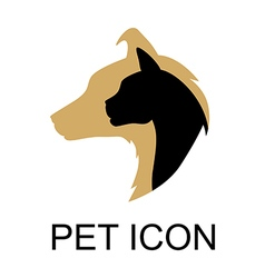 Pet icon color vector