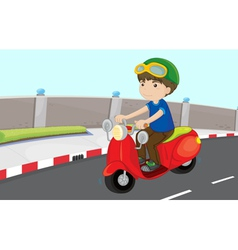 Boy on a scooter vector