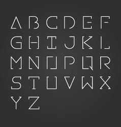 Alphabet design set-minimalist style vector
