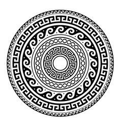 ancient greek round key pattern - meander art vector image vector image
